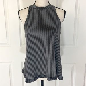 PPLA Ribbed Texture Sleeveless Top
